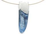 Kyanite & Pewter Gemstone Pendant 48mm (GSP2859)
