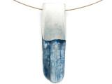 Kyanite & Pewter Gemstone Pendant 50mm (GSP2860)