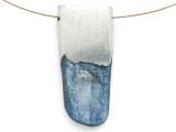 Kyanite & Pewter Gemstone Pendant 48mm (GSP2870)