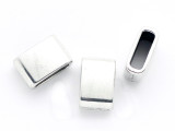 Pewter Bead - Rectangle Slider 12mm (PB886)