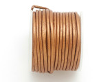 Copper Leather Cord 1.5mm - 10 Meter Spool (LR147)