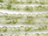 Green & Clear Recycled Glass Beads 8-12mm - Africa (RG693)