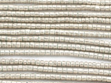 Small Silver Cylinder Beads 4mm - Ethiopia (ME5721)
