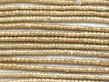 Small Brass Irregular Rondelle Beads 4mm - Ethiopia (ME5722)