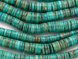 Turquoise Graduated Heishi Beads 3-12mm (TUR1430)