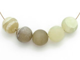 Jade Round Gemstone Beads 16-18mm - Set of 5 (GS4984)