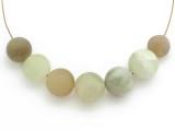 Jade Round Gemstone Beads 12-16mm - Set of 7 (GS4985)