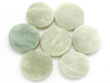 Jade Round Tabular Gemstone Beads 25-27mm - Set of 7 (GS4990)