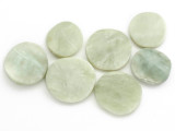 Jade Round Tabular Gemstone Beads 23-30mm - Set of 7 (GS4992)