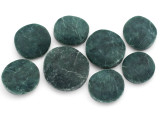 Jade Round Tabular Gemstone Beads 23-33mm - Set of 8 (GS4998)