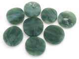Jade Round Tabular Gemstone Beads 24-30mm - Set of 8 (GS5003)