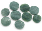 Jade Round Tabular Gemstone Beads 25-30mm - Set of 9 (GS5004)
