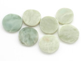 Jade Round Tabular Gemstone Beads 23-25mm - Set of 7 (GS5007)