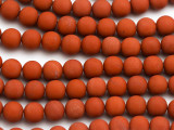 Matte Red Jasper Round Gemstone Beads 8mm (GS5009)