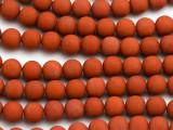 Matte Red Jasper Round Gemstone Beads 8mm (GS5009)