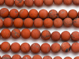 Matte Red Jasper Round Gemstone Beads 10mm (GS5010)