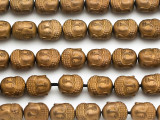 Copper Hematite Buddha Gemstone Beads 10mm (GS5012)