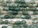 Moss Agate Barrel Gemstone Beads 8mm (GS5016)