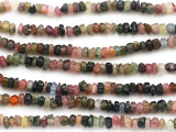 Tourmaline Faceted Rondelle Gemstone Beads 3-4mm (GS5018)