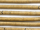 Brass Hematite Chevron Gemstone Beads 6mm (GS5020)