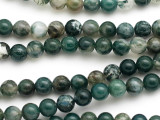 Moss Agate Round Gemstone Beads 7mm (GS5024)