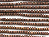 Copper Hematite Rondelle Gemstone Beads 3mm (GS5040)