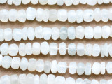 White Moonstone Faceted Rondelle Gemstone Beads 7-10mm (GS5017)