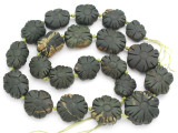 Carved Jade Flower Gemstone Beads 16-26mm (GS4975)