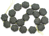 Carved Jade Flower Gemstone Beads 23-26mm (GS4977)