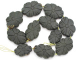 Carved Jade Flower Gemstone Beads 32-44mm (GS4978)