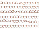 "Copper Curb Chain 6mm - 36"" (CHAIN107)"