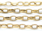 "Bright Brass Plated Oval Chain 16mm - 36"" (CHAIN110)"
