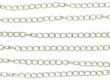 "Brass Curb Chain 4mm - 36"" (CHAIN111)"