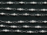 "Silver Plated Ball Link Chain 8mm - 36"" (CHAIN119)"