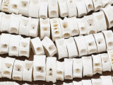 "Fish Vertebrae Beads 9-13mm - 44"" Strand (B7016)"