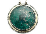 Afghan Silver & Ancient Roman Glass Pendant 70mm (AF978)