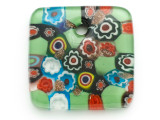 Green Square Foil Glass Pendant 41mm (AP2183)