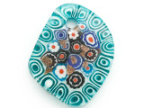 Blue Spirals Foil Glass Pendant 52mm (AP2184)