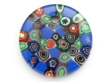 Blue Circle Foil Glass Pendant 45mm (AP2189)