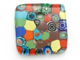 Multi-Color Square Foil Glass Pendant 41mm (AP2190)