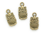 Brass Owl Charm 14mm (AP2178)