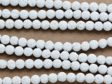 White Round Lava Rock Beads 6mm (LAV157)