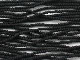 Black Matte Glass Seed Beads - 11/0 (SB236)