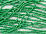 Green Glass Seed Beads - 11/0 (SB249)