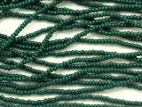 Dark Teal Green Glass Seed Beads - 11/0 (SB250)