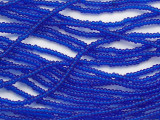 Sapphire Blue Transparent Glass Seed Beads - 11/0 (SB256)