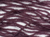 Dark Purple Transparent Glass Seed Beads - 11/0 (SB257)