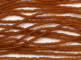 Amber Transparent Glass Seed Beads - 11/0 (SB260)