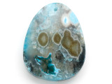 Blue Druzy Agate Gemstone Pendant 54mm (GSP2903)