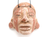 Mayan Carved Clay Mask Pendant (GUA489)